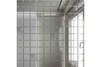 Зеркальная мозаика Серебро/Хрусталь С90Х10 с чипом 25 х 25