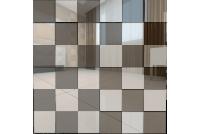 С5Г5 Зеркальная мозаика серебро 50%+графит 50% с чипом 50х50 312х312