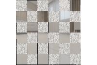 С5Х5 Зеркальная мозаика серебро 50%+хрусталь 50% с чипом 50х50 312х312