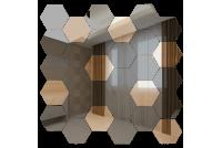 СГ7030Б1 Зеркальная мозаика сота графит 70%+бронза 30% 287х287