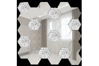 СС7030Х1 Зеркальная мозаика сота серебро 70%+хрусталь 30% 287х287