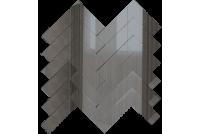 ЕГ1 Зеркальная мозаика елочка графит 260х292