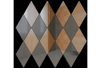 РБ5050Г1 Зеркальная мозаика ромб бронза 50%+графит 50% 260х270