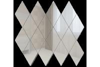 РС1 Зеркальная мозаика ромб серебро 260х270