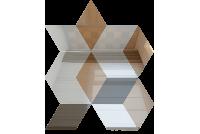 РЦ505050 Зеркальная мозаика ромб цвет серебро 50%+бронза 50%+графит 50% 210х260