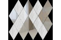 РС5050Х1 Зеркальная мозаика ромб серебро 50%+хрусталь 50% 260х270