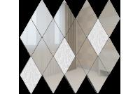 РС8020Х1 Зеркальная мозаика ромб серебро 80%+хрусталь20% 260х270