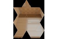 РЦБ1 Зеркальная мозаика ромб цвет бронза 210х260