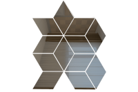 РЦГ1 Зеркальная мозаика ромб цвет графит 210х260