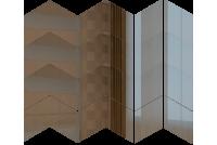 РСГ1 Зеркальная мозаика ромб скат графит 270х313