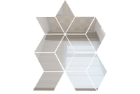 РЦС1 Зеркальная мозаика ромб цвет серебро 210х260