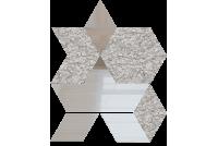 РЦС6040Х1 Зеркальная мозаика ромб цвет серебро 60%+хрусталь 40% 210х260