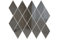 РГ1 Зеркальная мозаика ромб графит 260х270