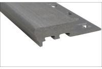 Профиль для ступеней противоскользящий серый 12x2500