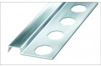 Профиль-бордюр для плитки аллюминивый, хром 12x2500