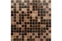 MIX19 коричневый (сетка 20х20х4) 327*327 Ns-mosaic