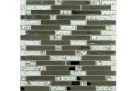 MS-605 метал  стекло  (15х48х98x6) 305*298 Ns-mosaic