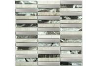 MS-622 метал стекло камень (15*98*8) 285*300 Ns-mosaic